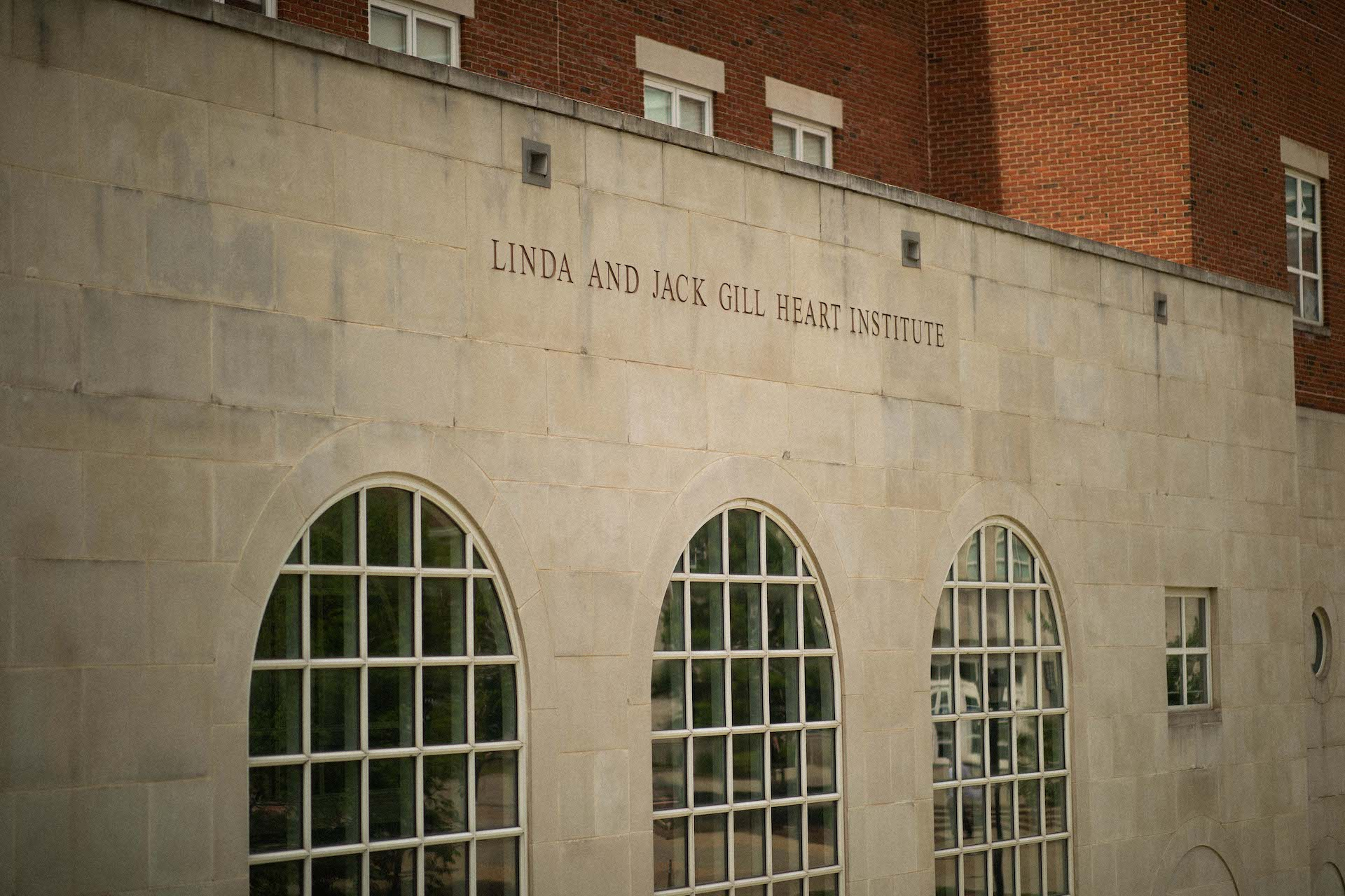 The Linda and Jack Gill Heart Institute building.