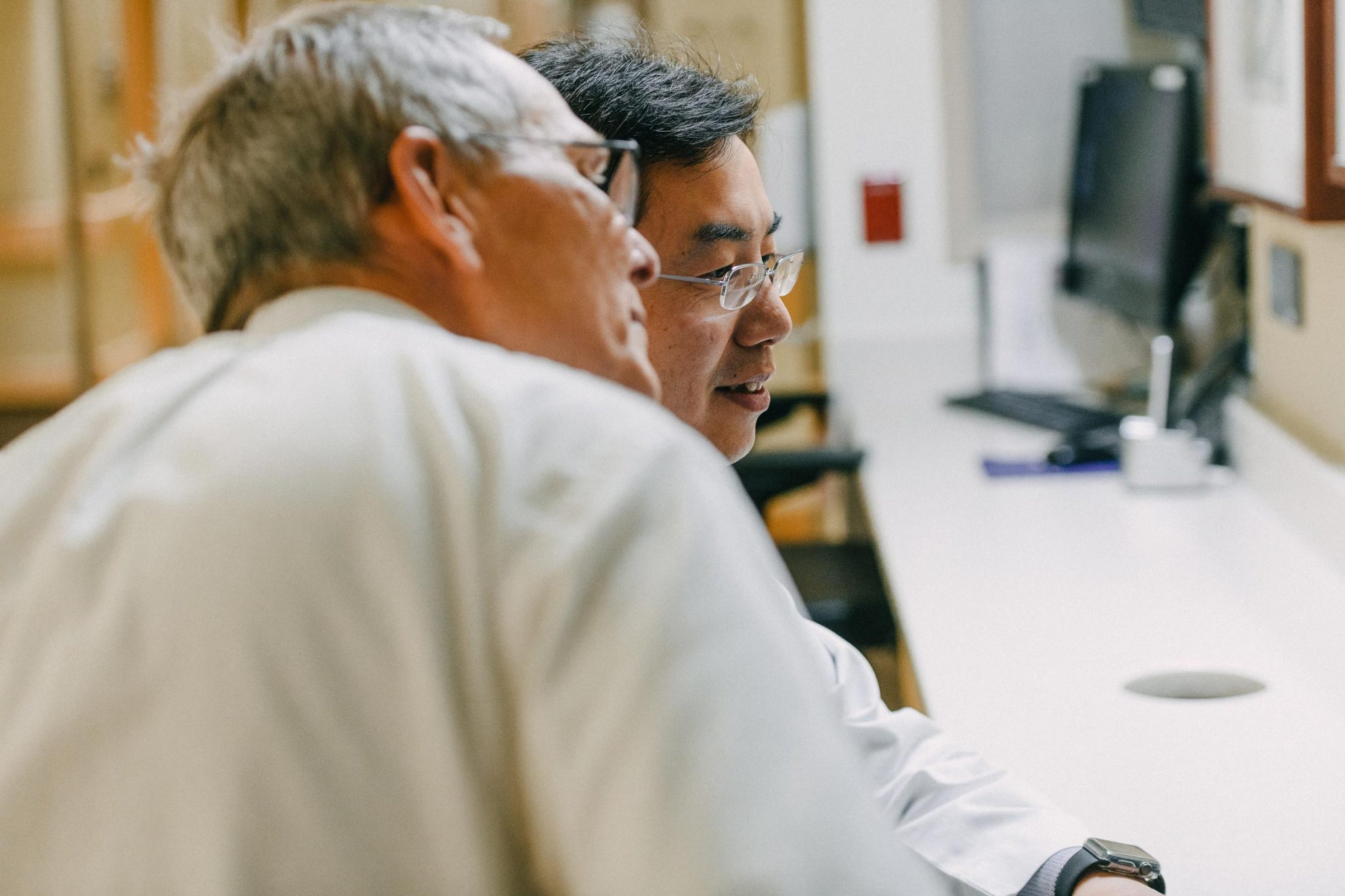 UK HealthCare oncologist, Dr. Peng Wang, and Dr. Charles Lutz discuss treatment options.