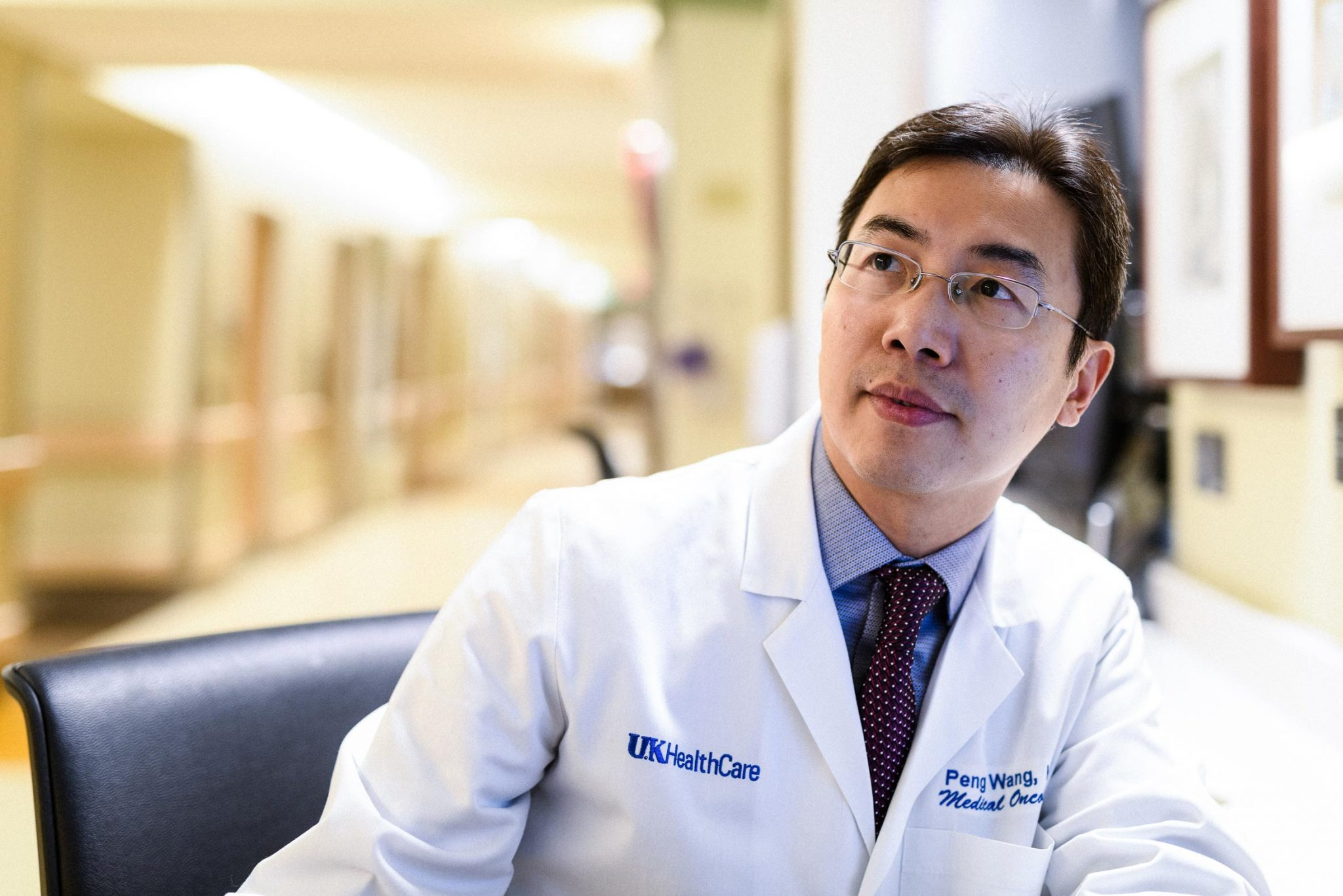 Portrait of UK HealthCare oncologist, Dr. Peng Wang.