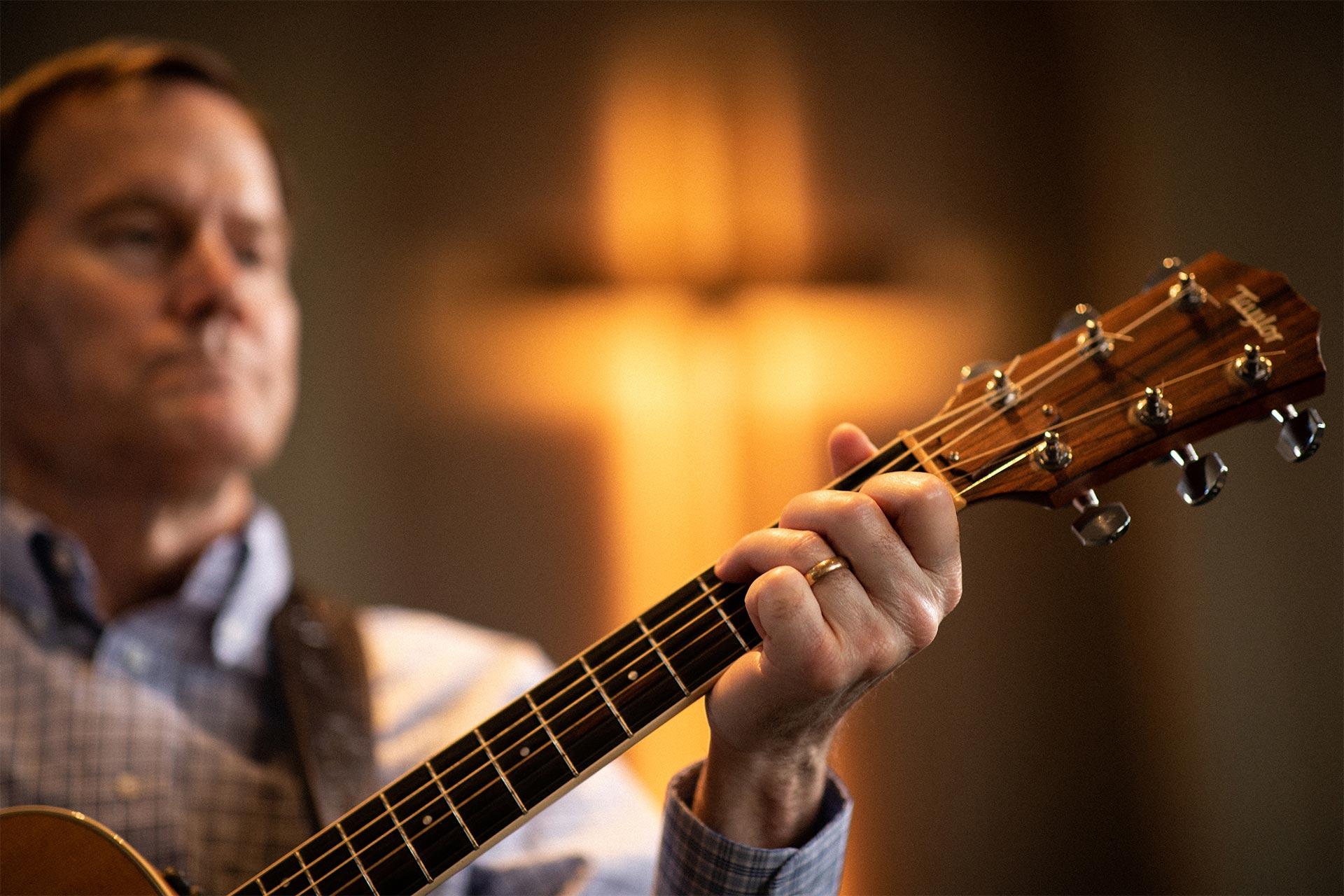 Bill Crawford playing guitar